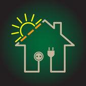 Solar electricity circuit house — Stock Photo