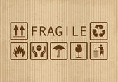 Fragile symbols — Stock Photo
