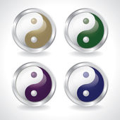 Ying yang buttons — Stock Photo