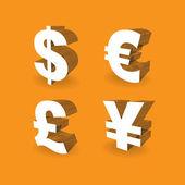 Currencies symbols — Stock Photo
