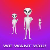 Aliens — Stock Photo