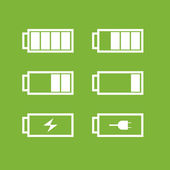 Battery icons — 图库照片