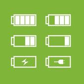 Ikony baterii — Zdjęcie stockowe