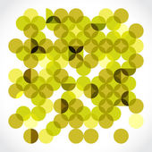 Yellow circles background — Stock Photo