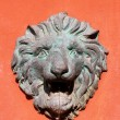 Lion statue on wall — Stock Photo #36818217