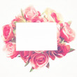 Blank card and rose — Stock Photo