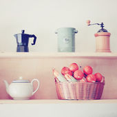 Tea and coffee equipment — Stock Photo