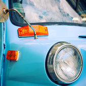 Nakhon Pathom, Thailand - August 28 : Blue Vintage Car in Exhibi — Stock Photo
