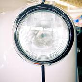 Nakhon Pathom, Thailand - August 28 : white Vintage Car in Exhib — Stock Photo