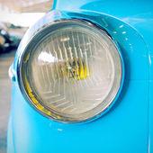 Nakhon Pathom, Thailand - August 28 : Blue Vintage Car in Exhibi — Stock Photo