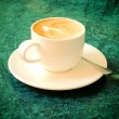 Cappuccino oder Latte Kaffee — Stockfoto