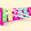 Retro toy xylophone — Stock Photo