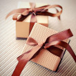 Luxury gift boxes — 图库照片