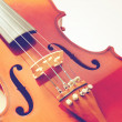 Part of violin — Stock Photo