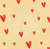 Heart on old paper — Stock Photo