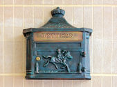 Metal letter box — Stock fotografie