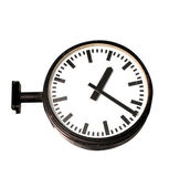 Clock in subway — Stock Photo