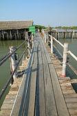 Bridge on sea — Stock Photo
