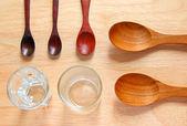 Wooden kitchen spoons — Stock Photo
