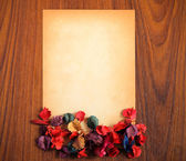 Paper and flower — Stock Photo