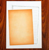 Blank notepaper — Stock Photo