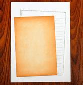 Blank notepaper — Stock Photo