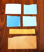 Ripped notepaper — Stock Photo