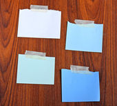Notepaper with tape — Stock Photo