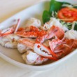 Foto Stock: Steamed crab