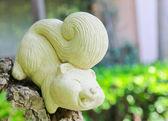 Squirrel statue — Stock Photo