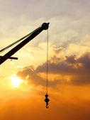 Crane silhouette — Stock Photo