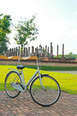 Bicycle in historical park — Stock Photo