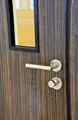 Modern chrome door — Stok fotoğraf