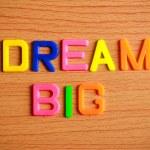 Постер, плакат: Dream big in toy letters