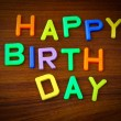 Happy Birthday in toy letters — Stock Photo #38056003