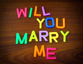 Will you marry me in toy letters — Stock Photo