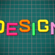Design in toy letters — Stock Photo