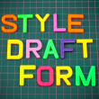 Style draft form in toy letters — Stock Photo