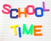 School time in toy letters — Stock Photo