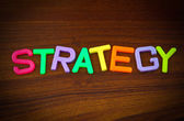 Strategy in colorful letters — Stock Photo