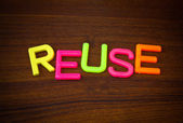 Reuse in colorful letters — Stock Photo
