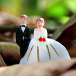 Stock Photo: Wedding couple doll