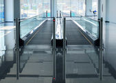 Travelator of walkway — 图库照片
