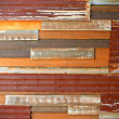 Rusty corrugated iron sheets — Stock Photo