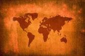World map screen — Stock Photo
