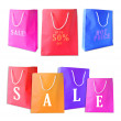 Stock Photo: Sale shopping bags