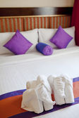 Honey moon bed suite — Stock Photo