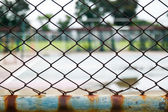 Gammal tråd stängsel — Stockfoto