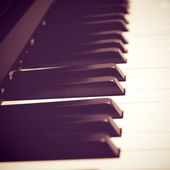 Close up of piano keys — Stock Photo