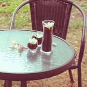 Outdoor table setting — Stock Photo